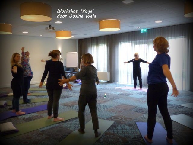 Impressie van de yoga-workshop